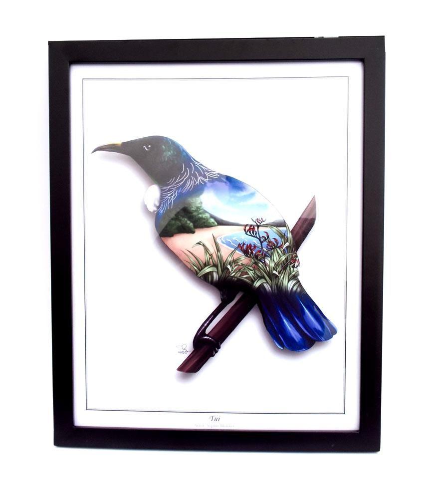 Tui Bird Nz Art Birthday Gifts For Her Kiwiana