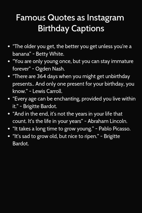 Top 50 Unused Instagram Captions For Birthday Birthday Captions Instagram Quotes Birthday Captions Instagram