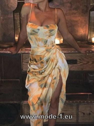 Photo of Vestido de verano con estampado de tirantes finos 2020 Sexy #dress #dresses #som