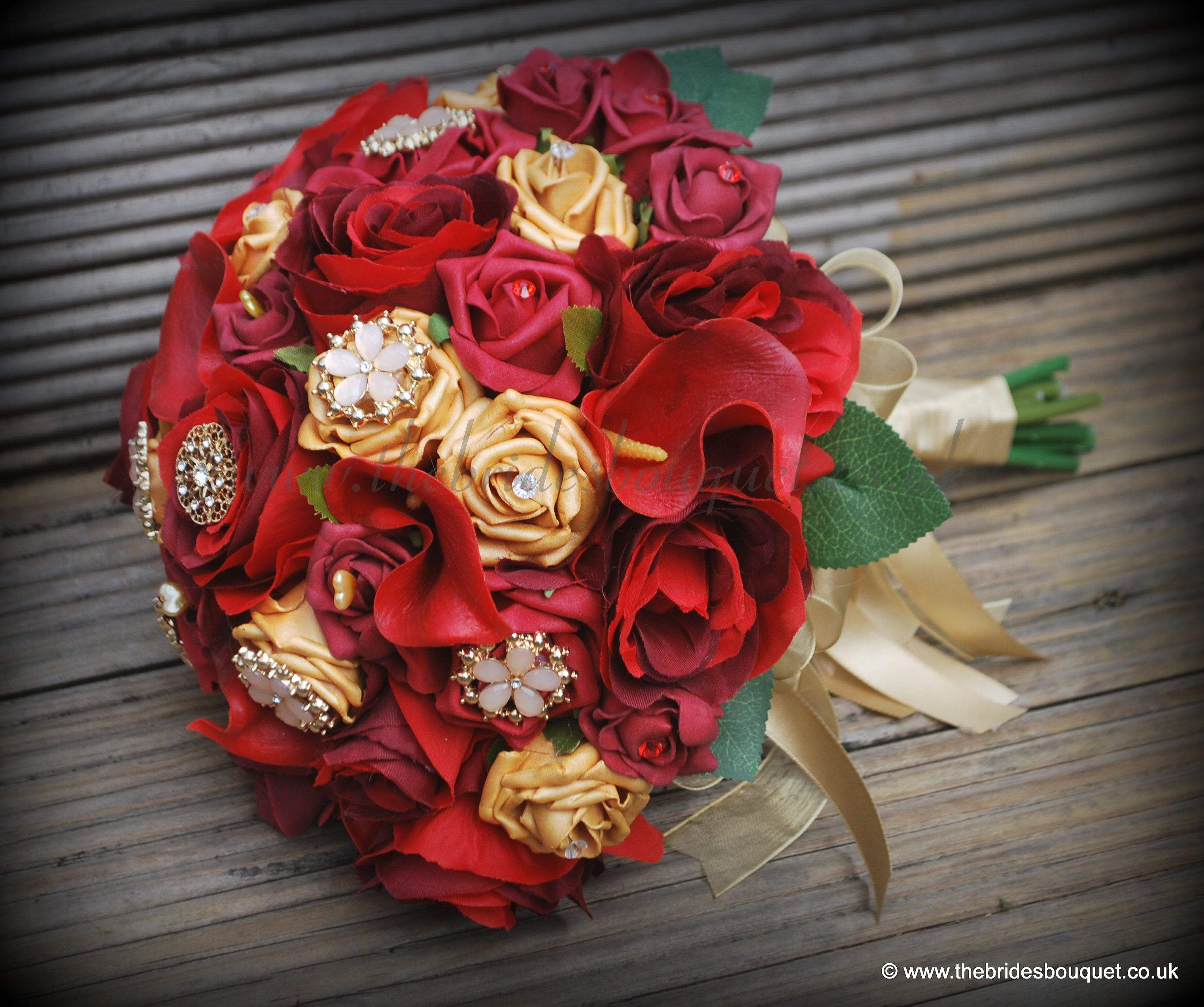 Asian Wedding Flowers Red And Gold Theme Bridal Bouquet Of