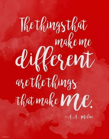 Diversity Quotes Adorable Art Print Different  A.amilne Diversity Quote Posterjeanne . Decorating Inspiration