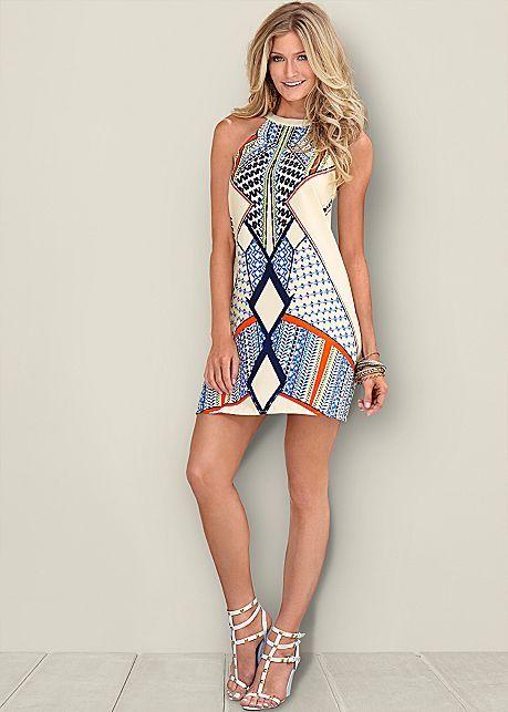 b02d6a525f0 Off White Multi Printed Dress