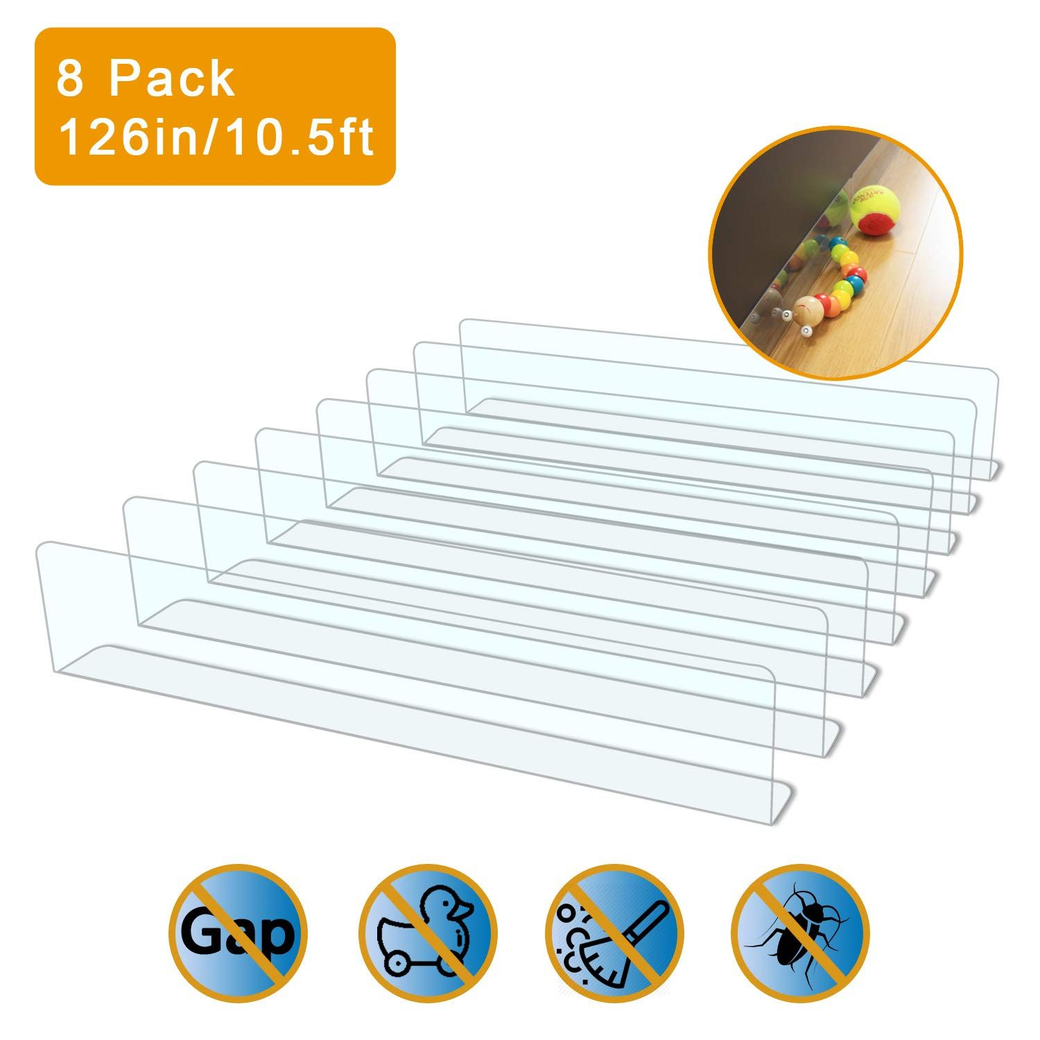 Upstone 8 Pack Toy Blocker Gap Bumper For Under Furniture Bpa Free Safe Pvc With Strong Adhesive Stop Things Going Under With Images Strong Adhesive Sofa Couch Bumpers