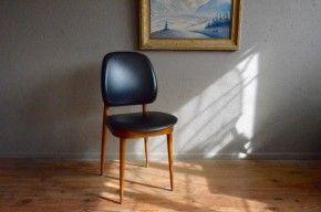 Chaise Guariche vintage rétro pieds compas scandinave années 60 antic french chair sixties