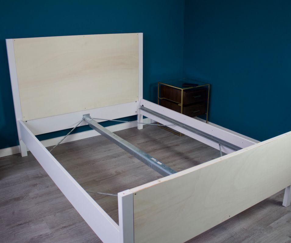 Ikea Hack Aus Hemnes Bett Wird Polsterbett Selfmade Interior In 2020 Polsterbett Hemnes Diy Mobel Schlafzimmer