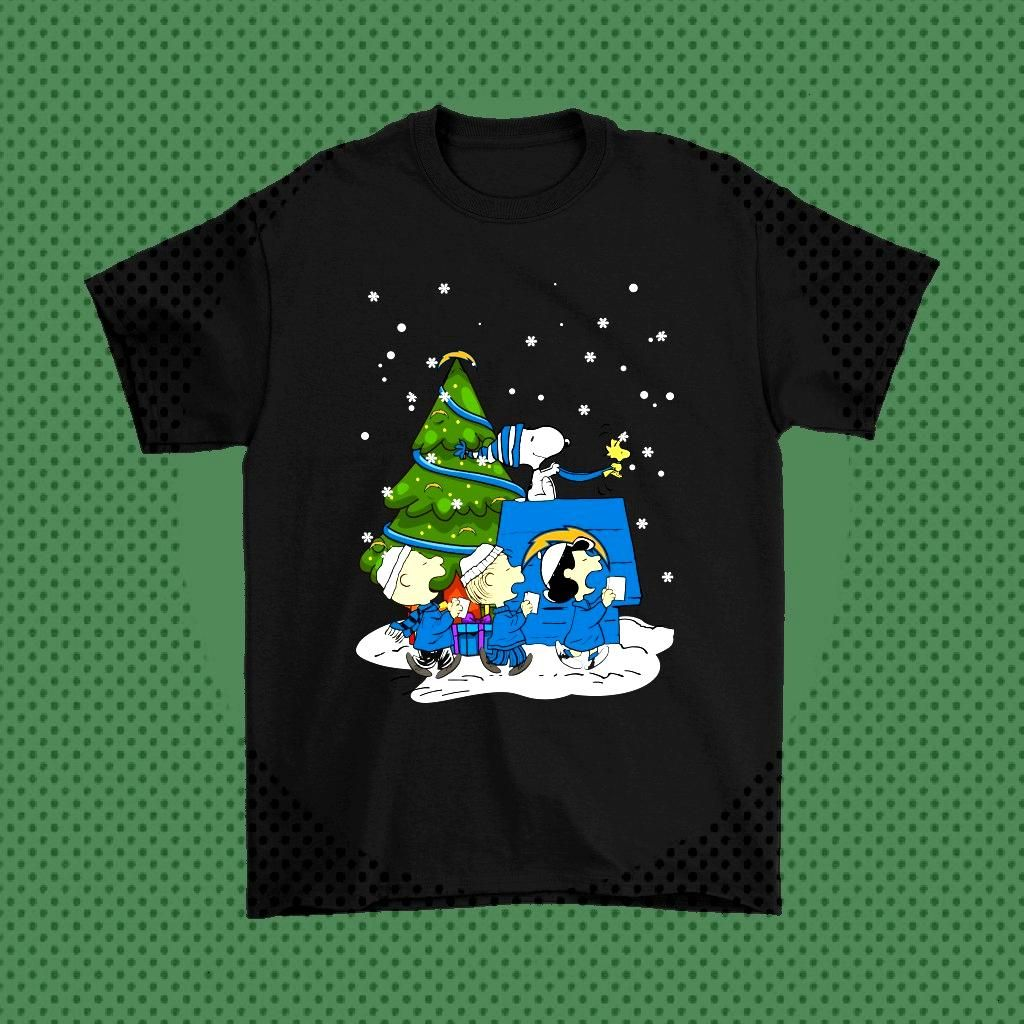 Los Angeles Chargers Are Coming To Town Snoopy Christmas Shirts - Snoopy Facts   The Los Angeles Ch