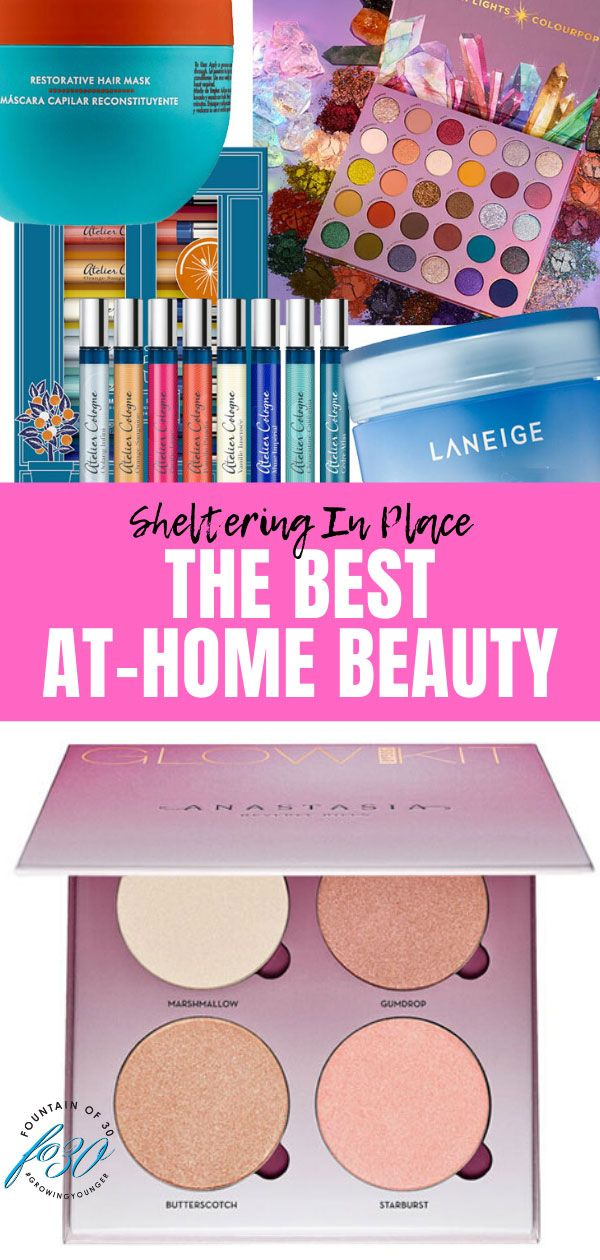 Here is some of our best at-home beauty advice and products to use while sheltering in place. #stayathome #beauty #homebeauty #makeup #skincare