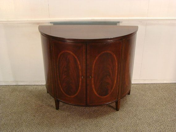 Wellington Hall Mahogany Half Round Console by DeLongsFurniture ...