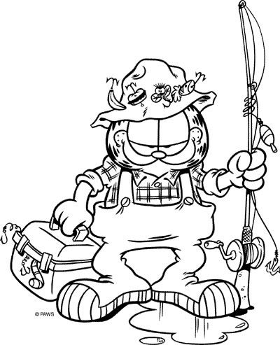 Dibujos para Colorear Garfield 28 | Dibujos para colorear para niños ...