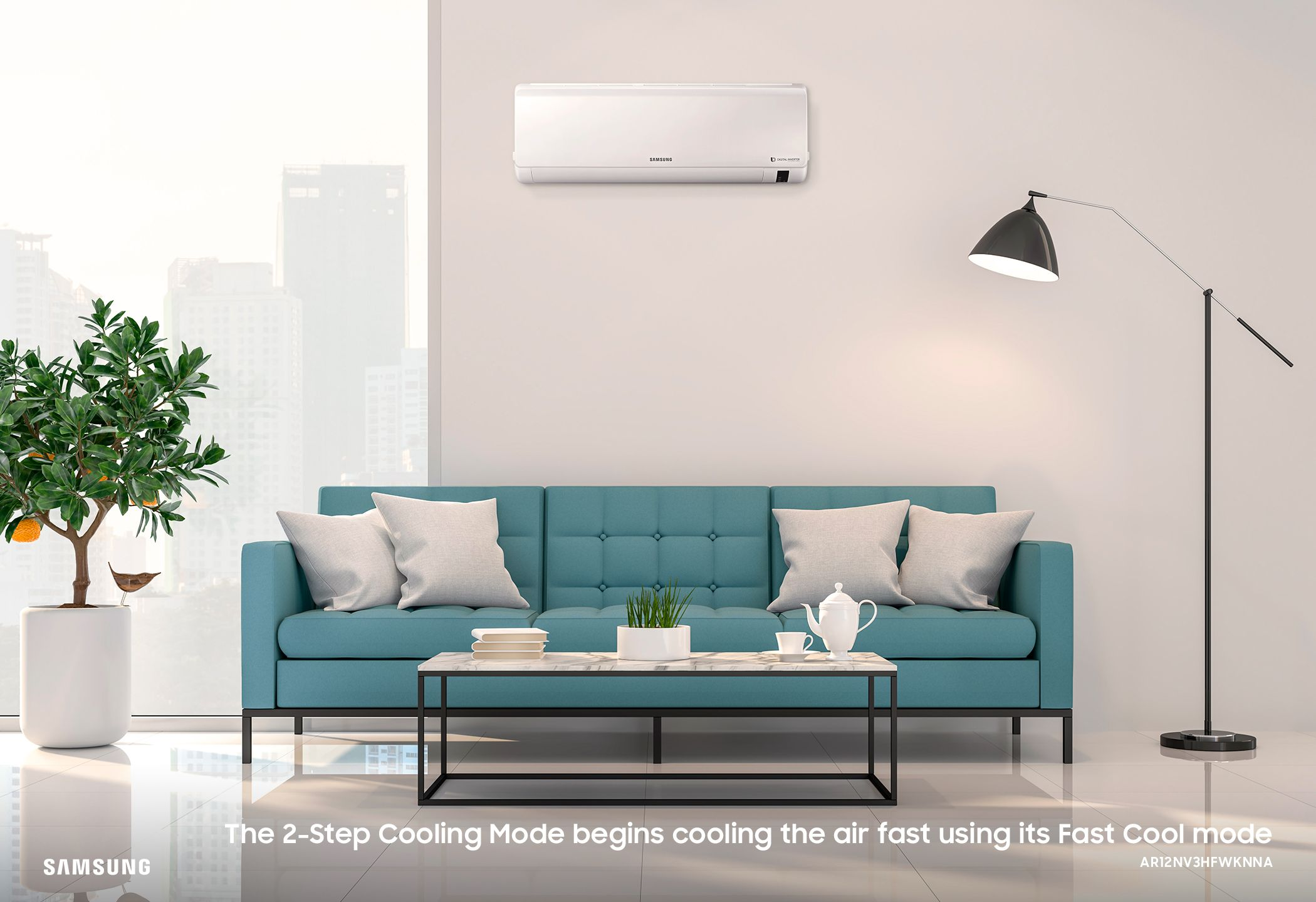 Inverter Split Air Conditioner With Fast Cooling 3 2kw