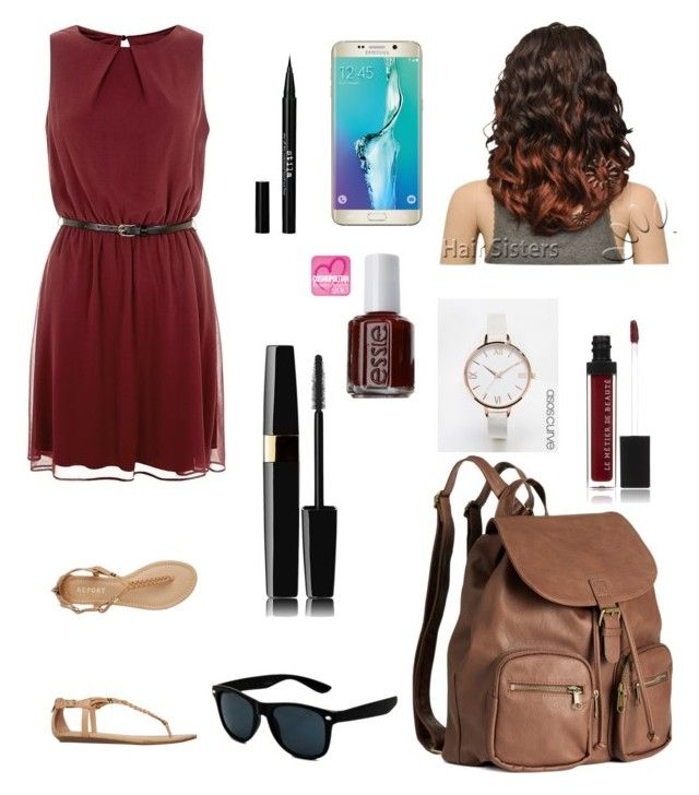 """look 195"" by carolinamondim on Polyvore featuring moda, Report, H&M, Le Métier de Beauté, Essie, Stila, ASOS Curve e Samsung"