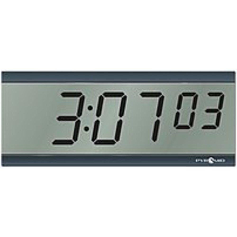 Pyramid S9d3l6lbxb 6 Digit Lcd Wireless Battery Operated Digital Clock Black Digital Clocks Clock Digital