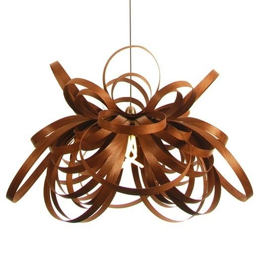 In A Tangle Steam Bent Wood Lighting From Tom Raffield Wood Light Bent Wood Wood Light Fixture