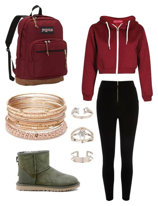 1bd48ce7bfd Untitled #14 by jerriyah-alanasia on Polyvore featuring polyvore, fashion,  style, Boohoo, River Island, UGG Australia, JanSport, Red Camel, ...