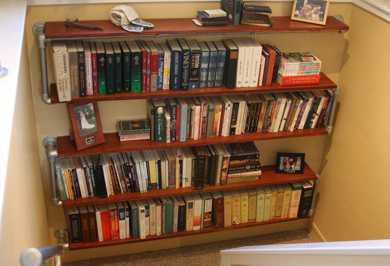 Build A Wall Mounted Bookshelf Bookshelves Diy Wall Mounted Bookshelves Industrial Shelf Diy