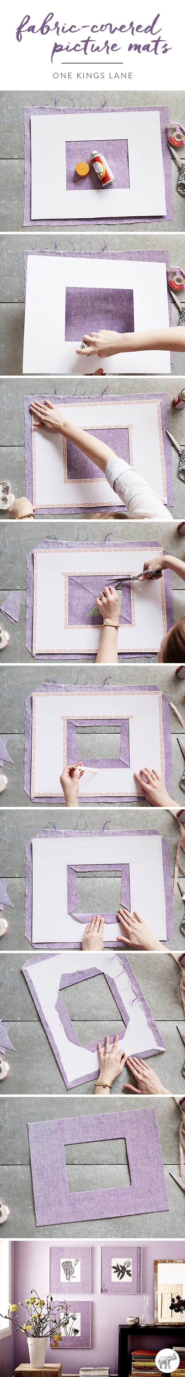 Artful Update: Fabric-Covered Picture Mats | DIY | Urban living ...