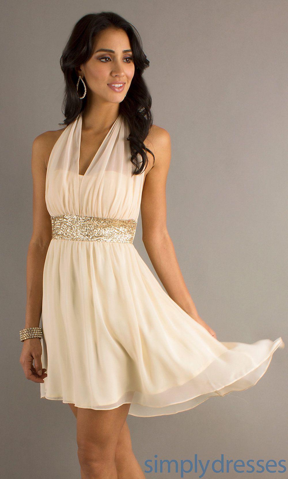 Short Halter Cocktail Dress, Short Prom Dresses - Simply Dresses ...