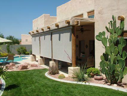 Do It Yourself Patio Shades, DIY Retractable Solar Screen ...