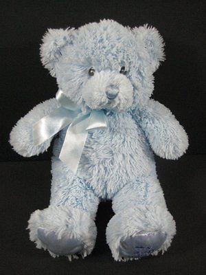 """8"""" Blue MY FIRST TEDDY BEAR Gund Baby 021033 Plush Baby Toy B254"""