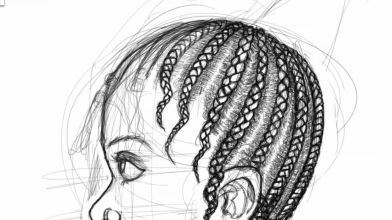 Pin By D L Maffett On Drawing Hair How To Draw Braids Afro Hair Drawing How To Draw Hair