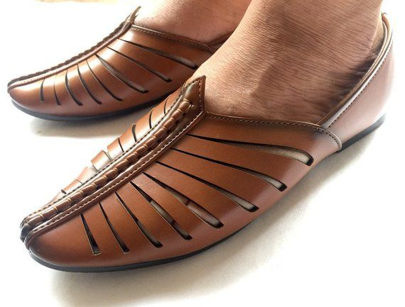 960f0de05b9cbd Tan Brown Contemporary Indian Mens Art Leather Shoes