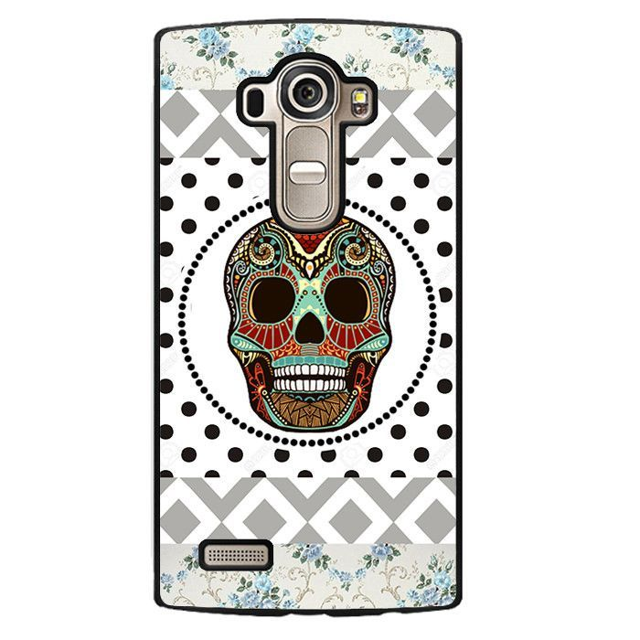 Aztec Skull Polkadots Background Phonecase Cover Case For LG G3 LG G4