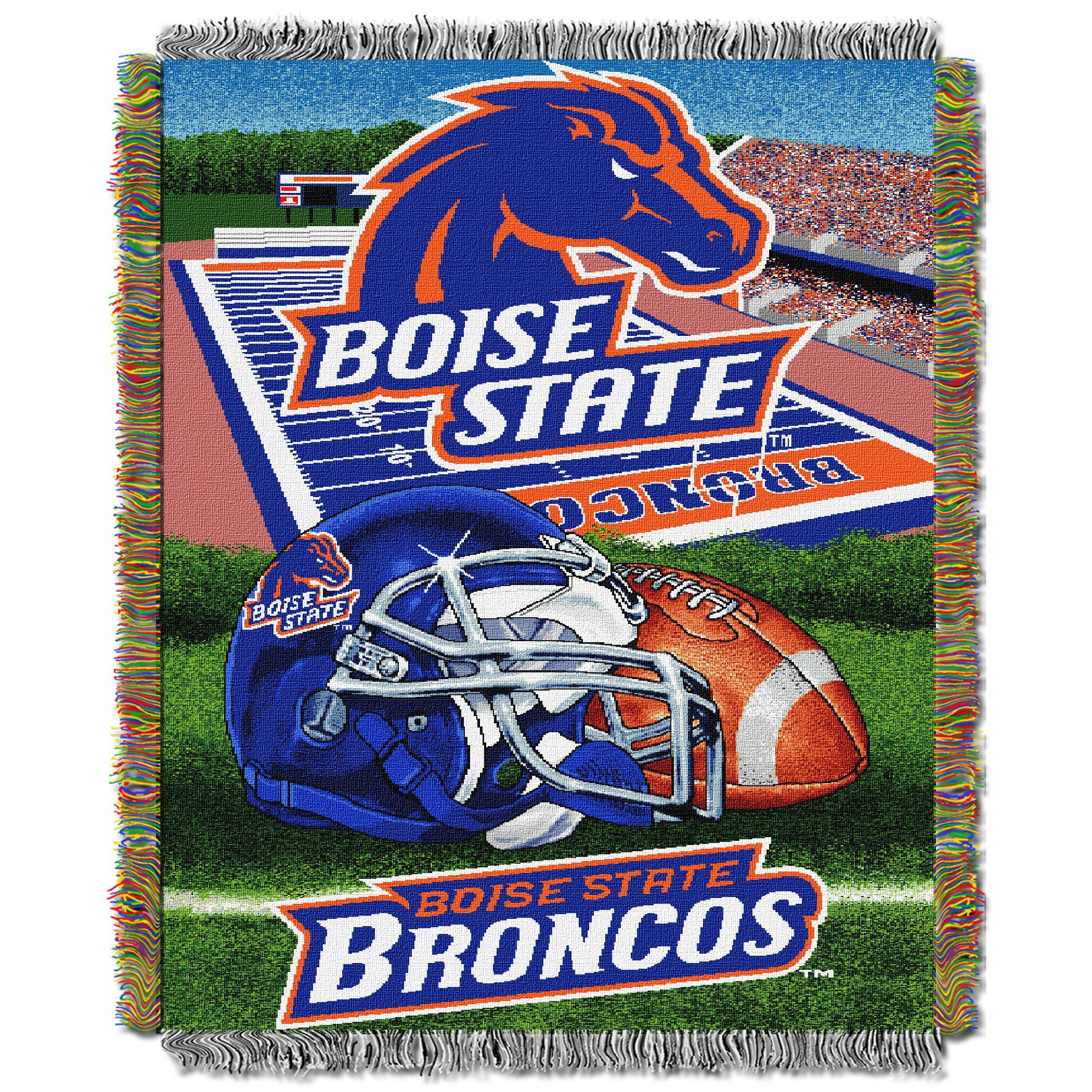 """Boise State College """"Home Field Advantage"""" 48x60 Tapestry"""