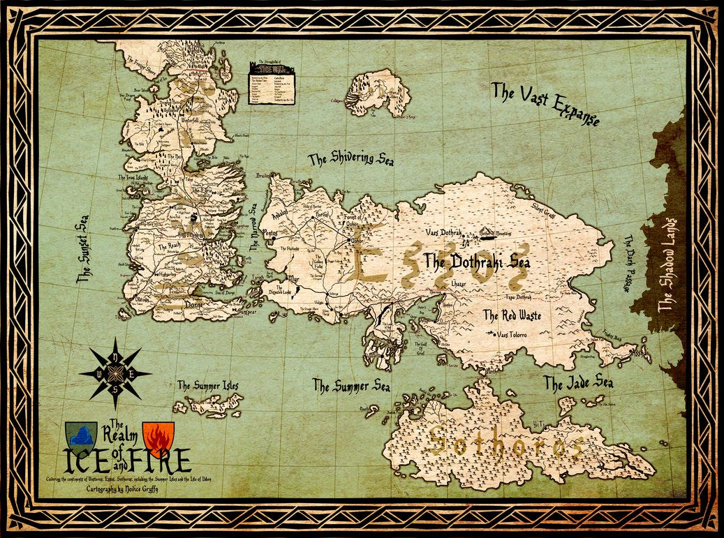 Map of the Seven Kingdoms of Westeros Creative Commons