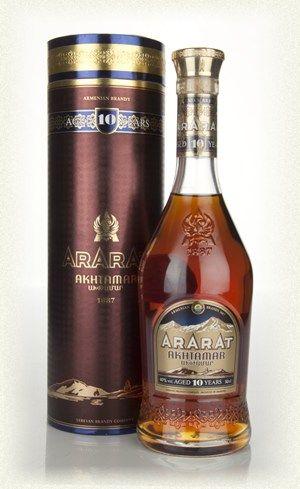 To drink, 10 year Armenian brandy.