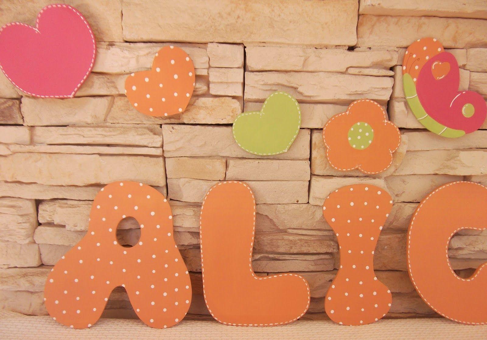 decoracin infantil pekerines letras de madera para decorar de nias
