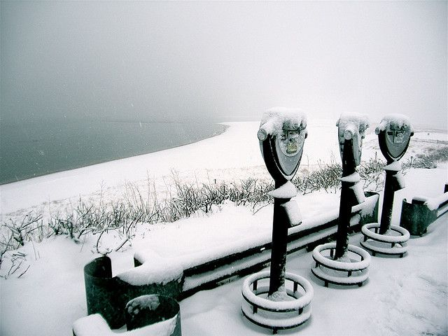 Snow Squall at Chatham Light Bluff. ©Christopher Seufert Photography