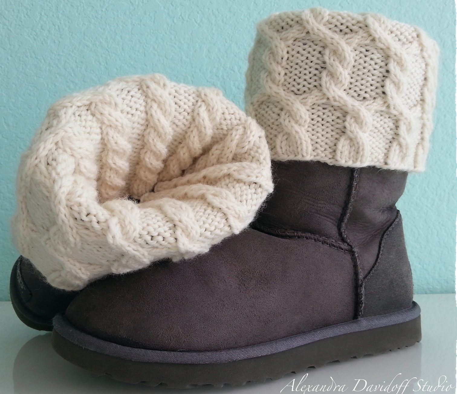 Free Knitting Pattern for UGG HUG Boot Toppers | Hand knits ...