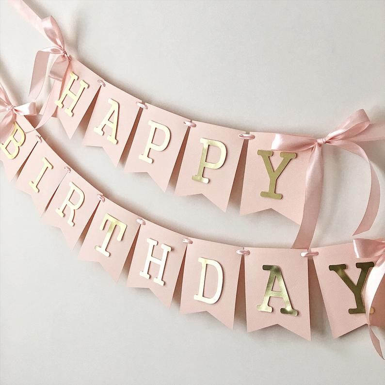 Personalized One Banner Custom 1st Birthday Garland Custom Happy 1st Birthday Banner 1st Birthday Decorations First Birthday Party Decor