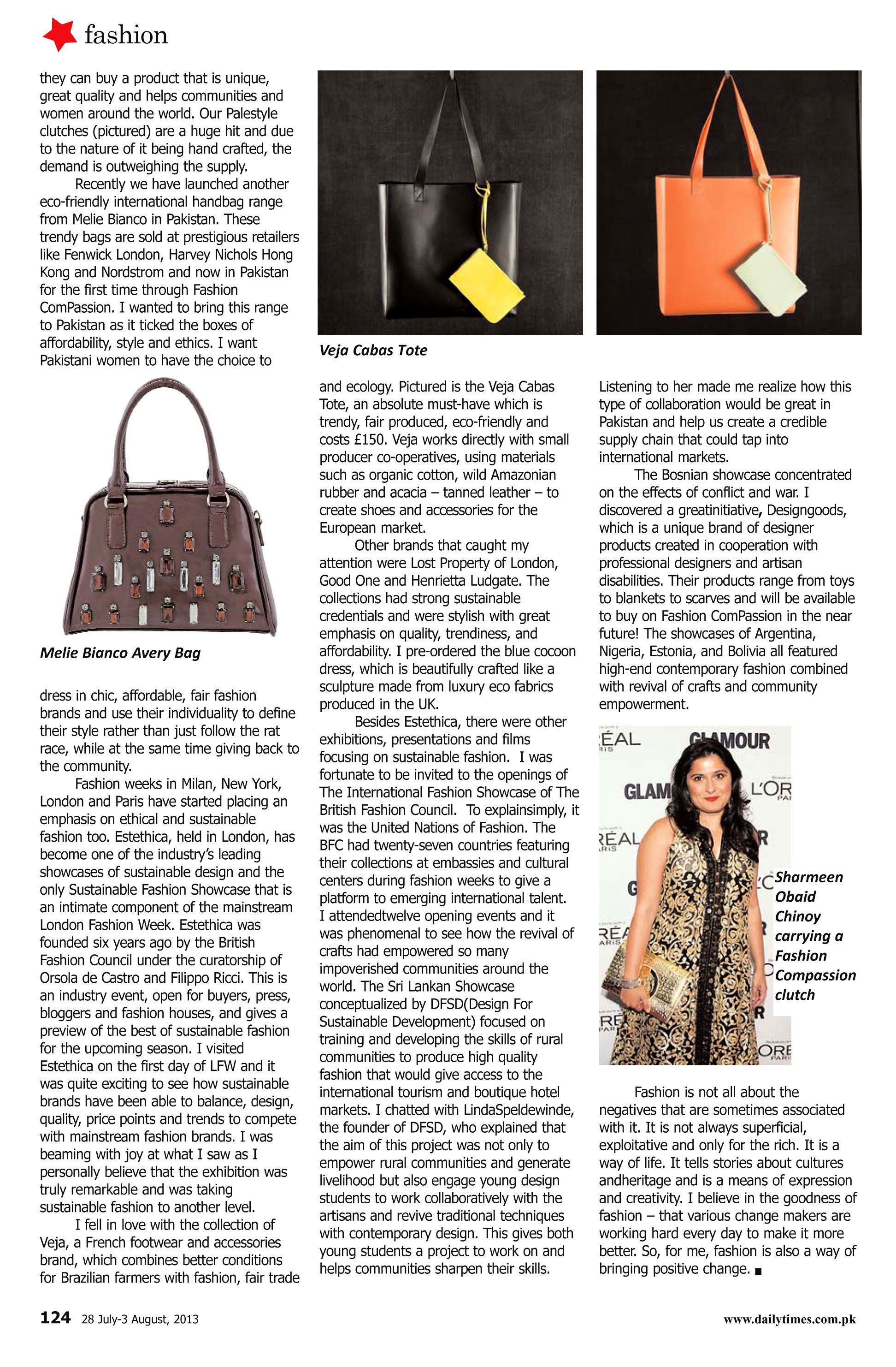 Fashion Compassion Article