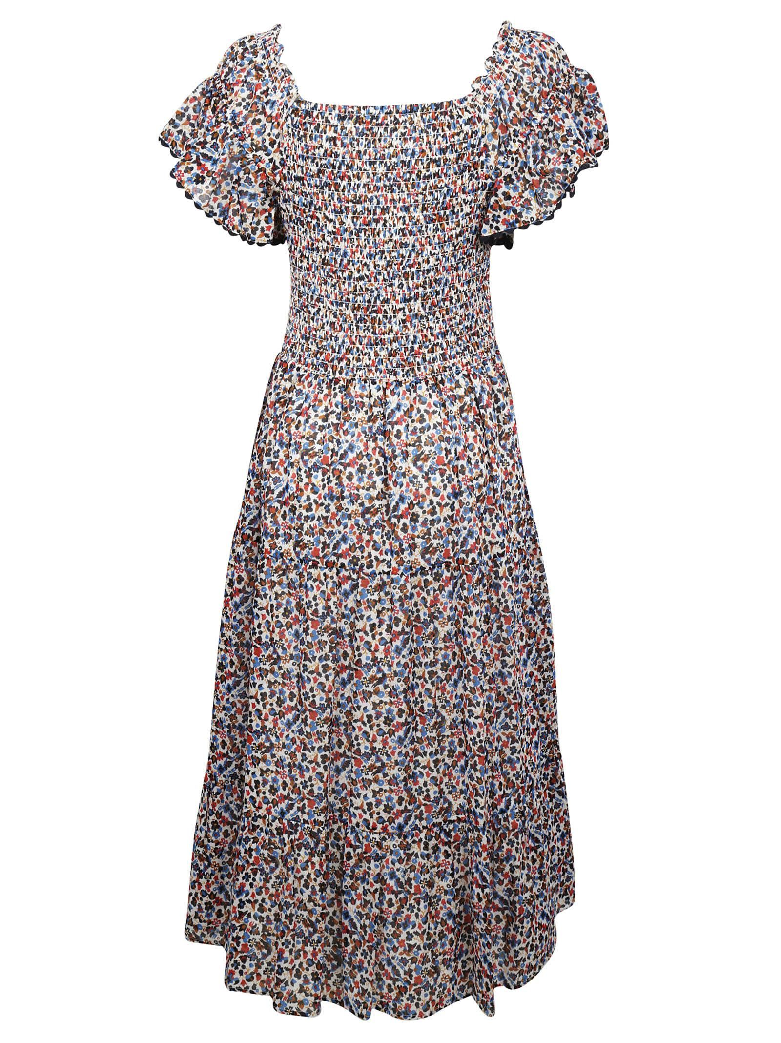 6011ce64c2df TORY BURCH WILDFLOWER SMOCKED DRESS. #toryburch #cloth # | Tory ...