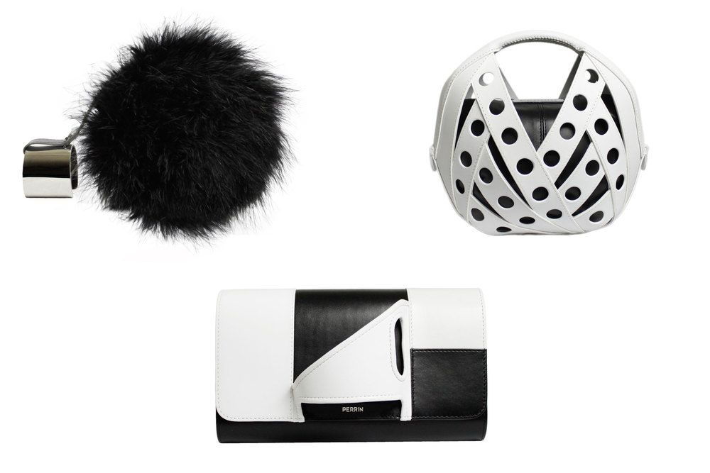 A selection of black-and-white bags from Perrin Paris. (Photo: Courtesy Perrin Paris)
