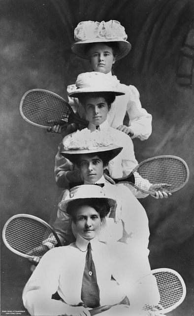 Not Strictly Colonial But This Is A Great Photo Of The Queensland Ladies Interstate Tennis Team 1908 Tennis Team Vintage Tennis Tennis