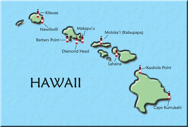 Hawaii Map of Lighthouses | < Lighthouse's ~ Shine Your Light On Me on map of fiji island, best beaches hawaii islands, map of oahu, map of fort myers beach florida, map of japan, about hawaii islands, map of kauai, map of brazil, map of maui, map of wildwood new jersey, map of guam, map of new york city ny, map of new brunswick canada, google maps hawaii islands, map of nantucket island massachusetts, map of singapore, weather hawaii islands, map guam islands, map of waikiki restaurants, map of iceland,