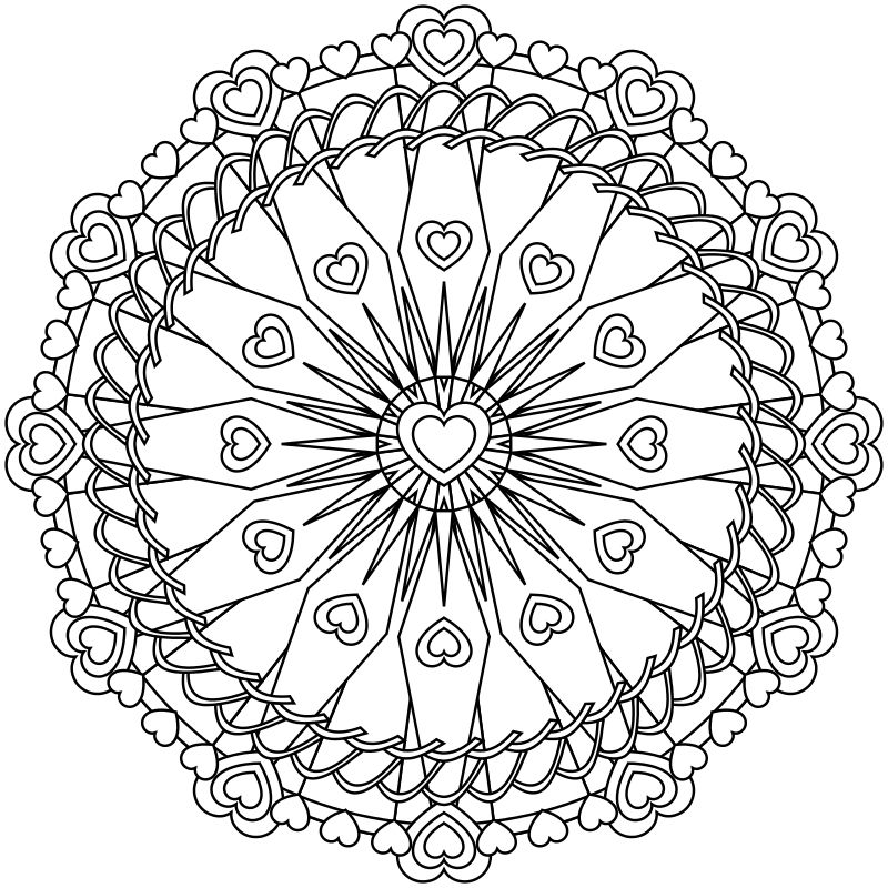Mandala coloring page by Jamie Nicolle