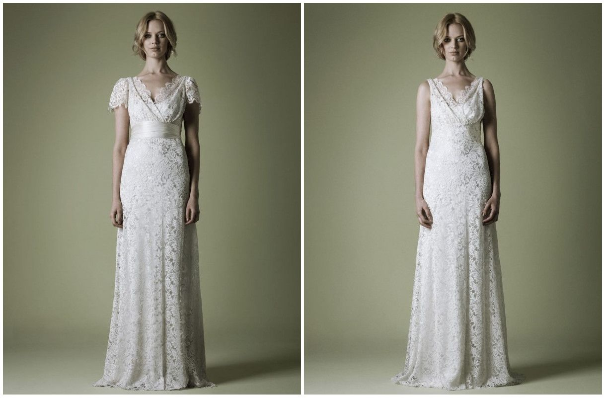 1930s style lace wedding gown with reversible silk sash and lace 1930s style lace wedding gown with reversible silk ombrellifo Image collections