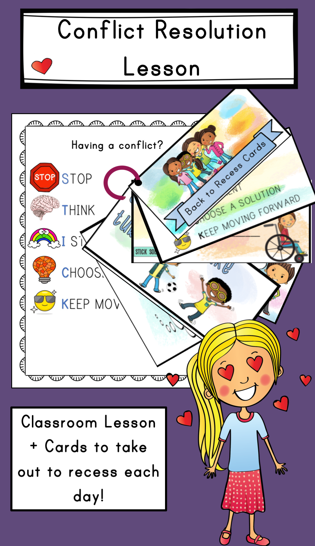 Conflict Resolution Lesson Back To Recess Cards