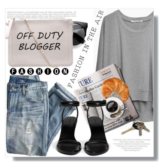 """OFF DUTY ;-)"" by myfashionwardrobestyle ❤ liked on Polyvore featuring Eos, J.Crew, T By Alexander Wang, 7 For All Mankind, Alexander Wang, Avon, women's clothing, women, female and woman"