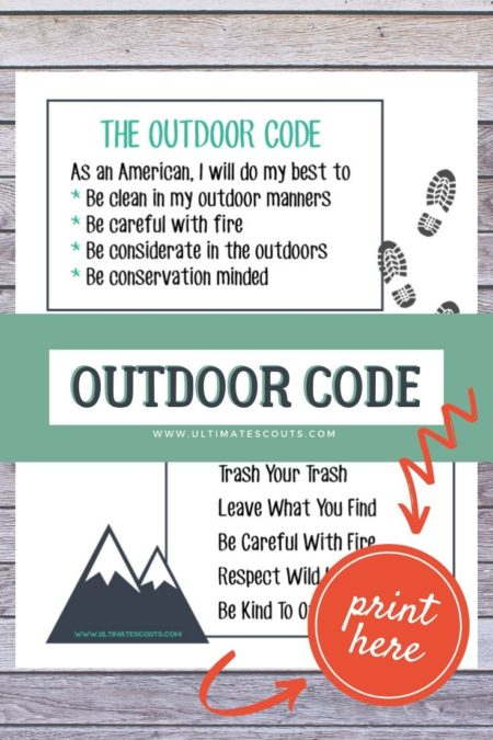 Learn The Outdoor Code Free Printable