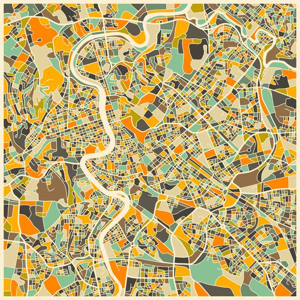 ROME MAP Art Print | Rome | Pinterest | Rome map, Rome and Italy
