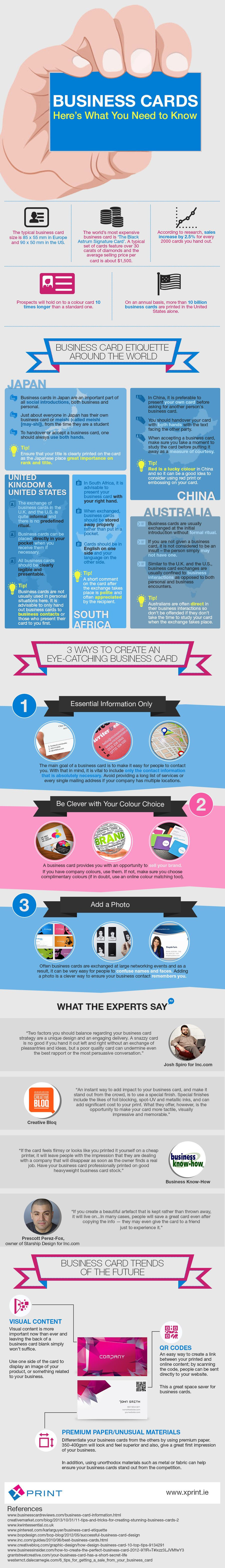 This infographic offers an insight into business card etiquette ...