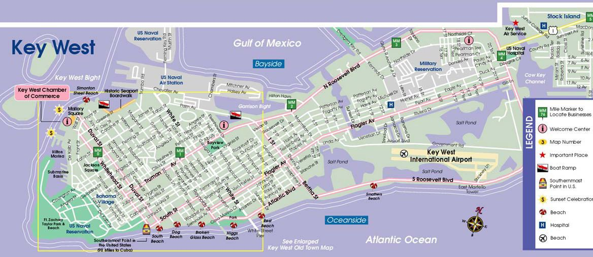 Hotel Map Of Key West Florida Find Florida Keys map information here at Fla Keys.com. | Key west