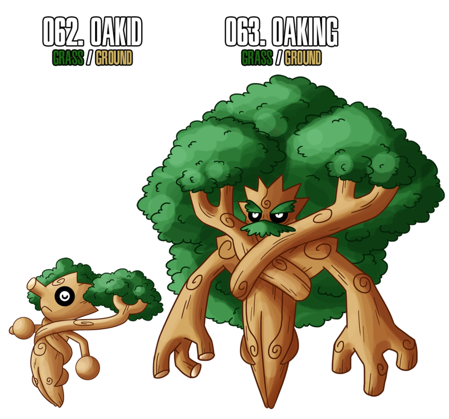 and another grass pokemon this time an oak tree it u0027s a male only