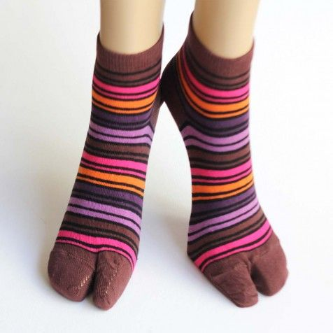 fe83a12a6dfdf One-toe Socks: Choco brown - Socks - Women | toe socks / flip flop ...