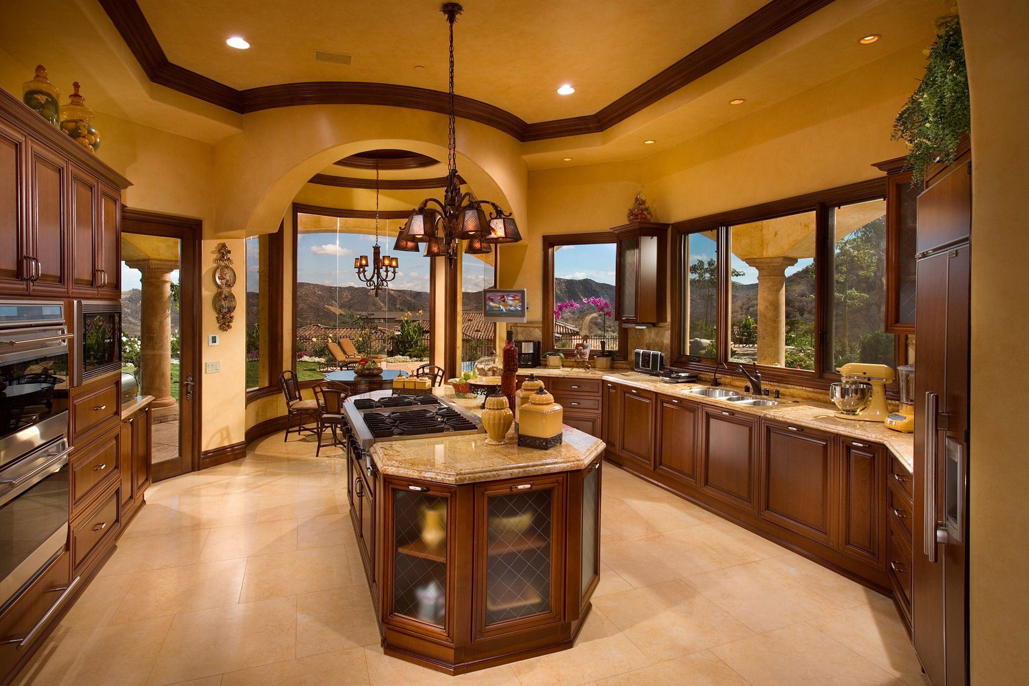 Best Kitchen Beautiful Tuscan Style Home By John B Scholz 400 x 300