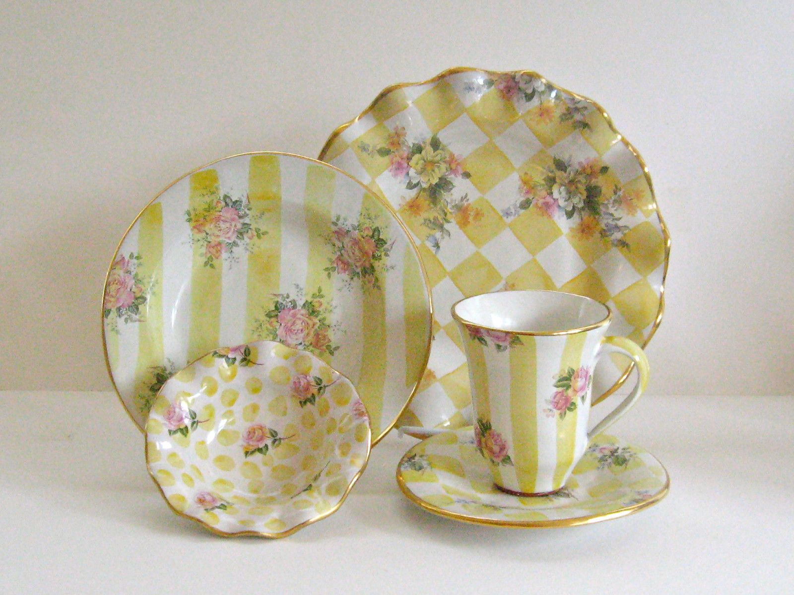 Mackenzie Childs Honeymoon Ceramic Pottery 5 Original Collector Dinnerware u002792 | eBay & Mackenzie Childs Honeymoon Ceramic Pottery 5 Original Collector ...